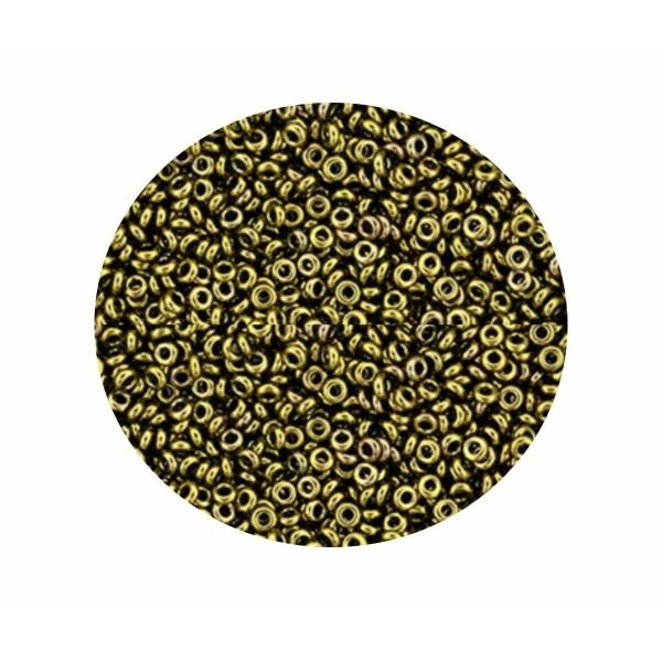 20g Antique Bronze 223 demi ronde 11/0 2.2 mm verre métallique or mini anneau Japonais TOHO perles d - Photo n°1
