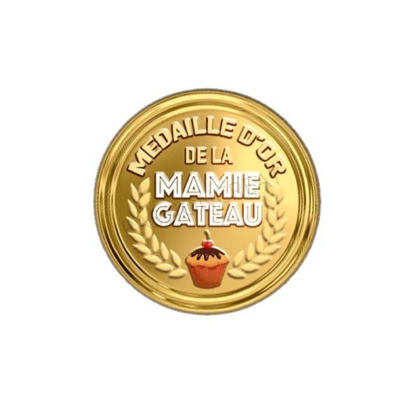 Médaille D'Or De La Mamie Gâteau 2 Cabochons 20 mm - Photo n°1