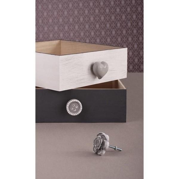 Kit pour 6 Pommeaux Déco en béton avec tous les accessoires pour boutons de tiroirs - Photo n°3