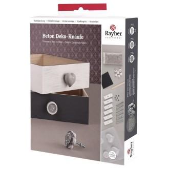 Kit pour 6 Pommeaux Déco en béton avec tous les accessoires pour boutons de tiroirs
