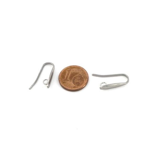 8 Supports Boucles D'oreilles Crochet Larme Effilé En Acier Inoxydable Argenté - 4 Paires Hameçon - Photo n°2