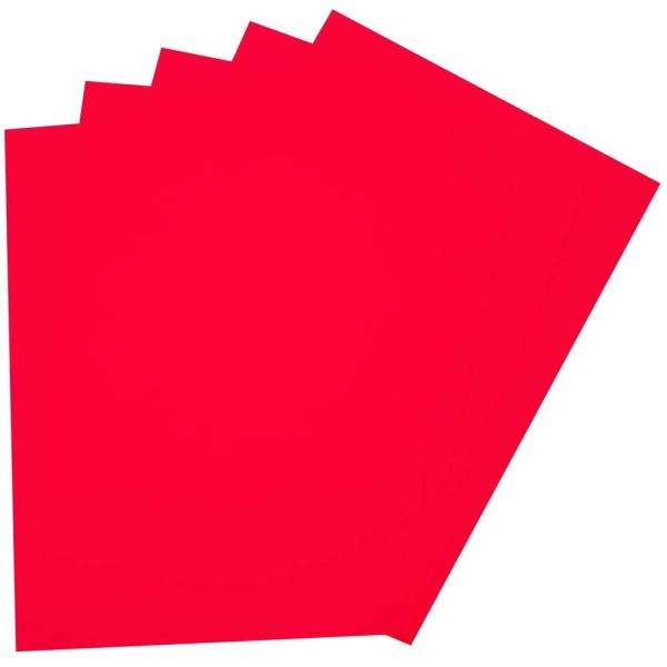 Caoutchouc mousse (L)200 x (H)290 mm - Rouge pur - Photo n°1