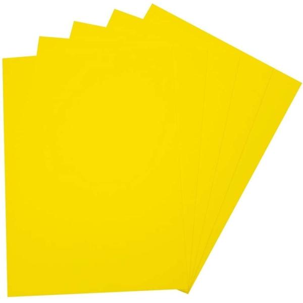 Caoutchouc mousse (L)290 x (H)400 mm - Jaune citron - Photo n°1