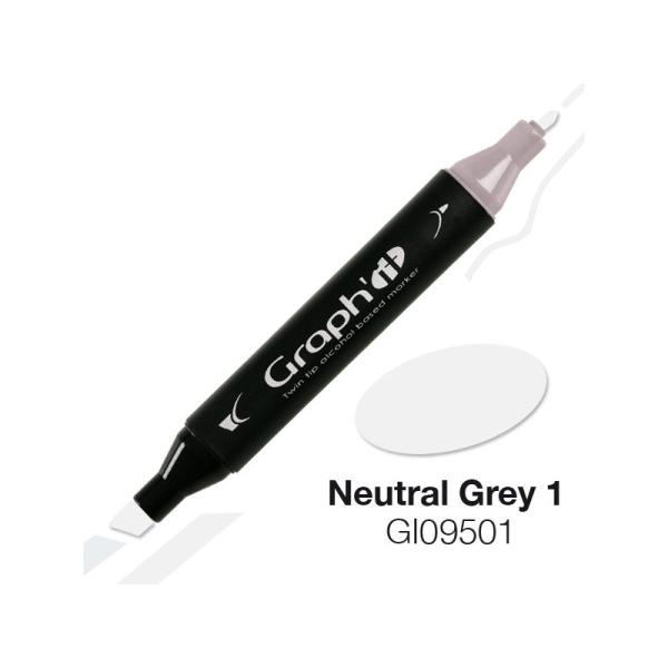 Graph'it marqueur à alcool 9501 - Neutral grey 1 - Photo n°1