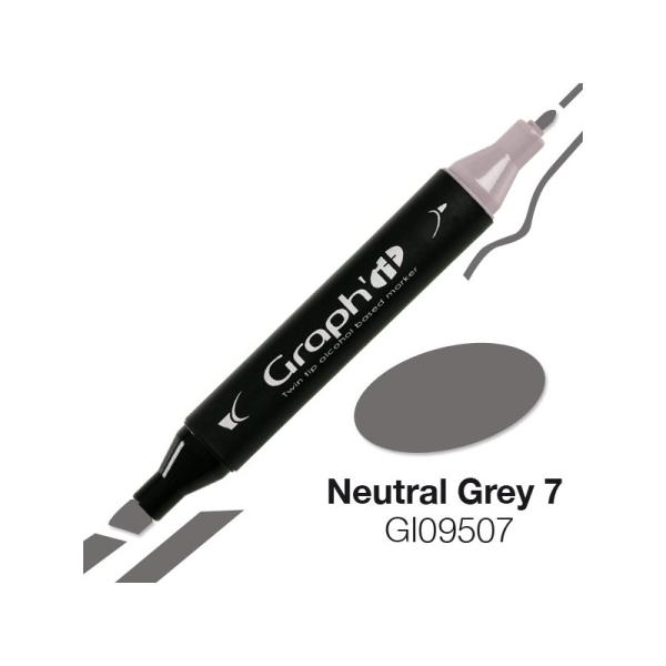 Graph'it marqueur à alcool 9507 - Neutral grey 7 - Photo n°1