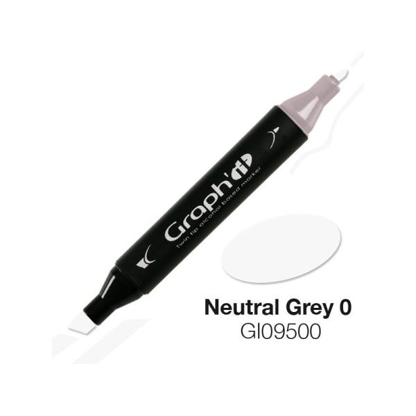 Graph'it marqueur à alcool 9500 - Neutral grey 0 - Photo n°1