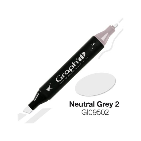 Graph'it marqueur à alcool 9502 - Neutral grey 2 - Photo n°1