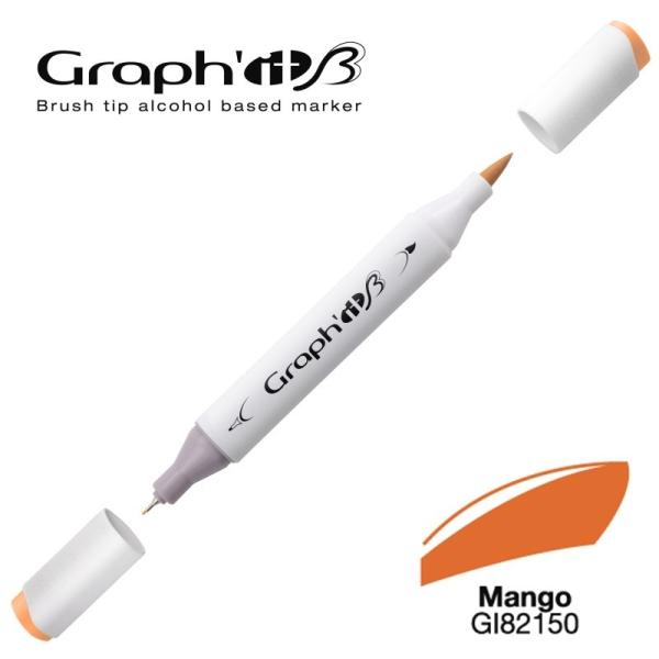 Graph'it brush marqueur à alcool 2150 - Mango - Photo n°1
