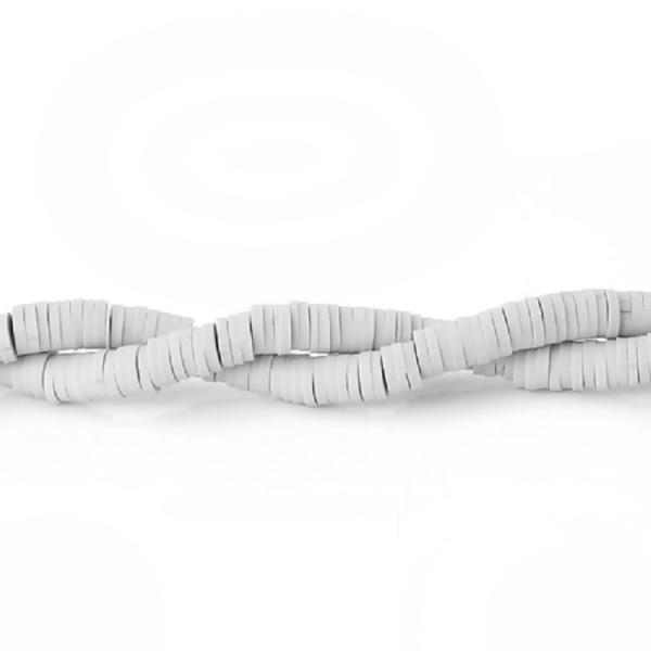 Perles HEISHI 5 mm gris clair x fil de 300 unités - Photo n°1