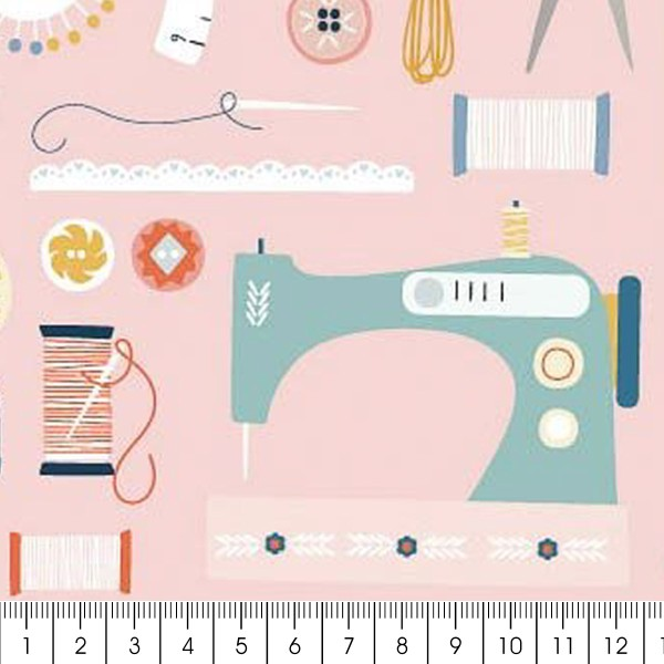 Tissu Toile Coton Dashwood - Hoobies Couture - Vendu par 10 cm - Photo n°2