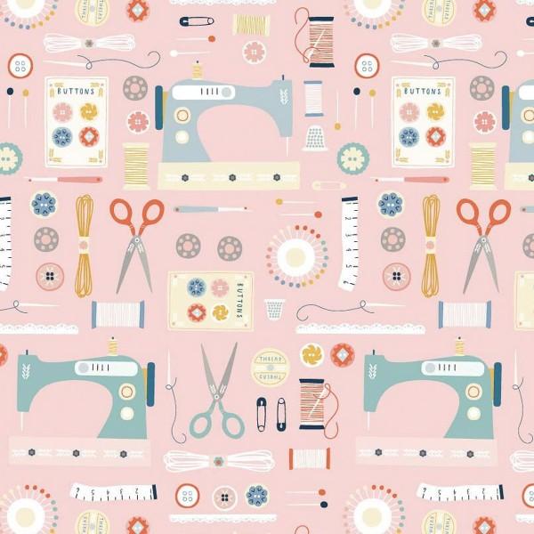 Tissu Toile Coton Dashwood - Hoobies Couture - Vendu par 10 cm - Photo n°1