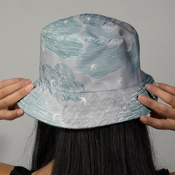 Tissu Toile Coton Dashwood Elements - Ciel - Vendu par 10 cm - Photo n°2