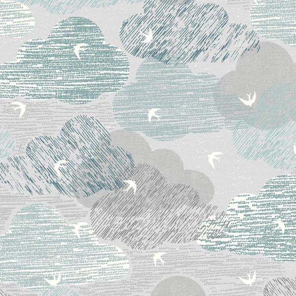 Tissu Toile Coton Dashwood Elements - Ciel - Vendu par 10 cm - Photo n°1