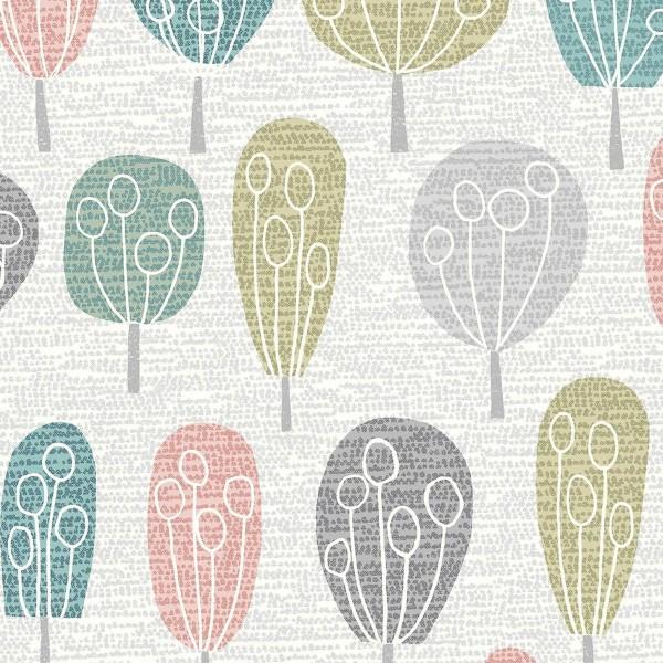 Tissu Toile de Coton Dashwood - Arbres - Par 10 cm - Photo n°1