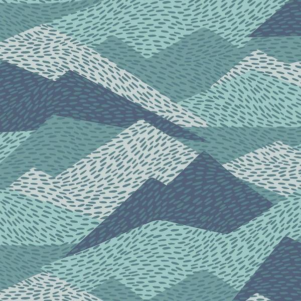 Tissu Toile Coton Dashwood Elements - Montagne - Vendu par 10 cm - Photo n°1