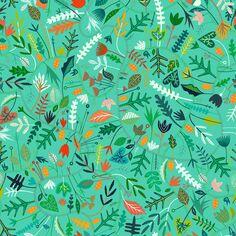 Tissu Rayonne Dashwood - Circle Line Vert d'eau - Vendu par 10 cm