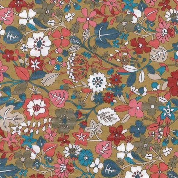 Tissu Velours milleraies Dashwood - Kaleidoscope Taupe - Vendu par 10 cm - Photo n°1