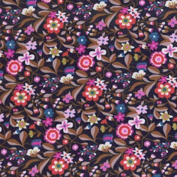 Tissu Velours milleraies Dashwood - Kaleidoscope Navy / Violet - Vendu par 10 cm - Photo n°1