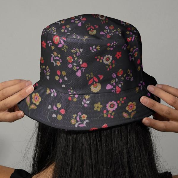 Tissu Velours milleraies Dashwood - Kaleidoscope Navy fleuri - Vendu par 10 cm - Photo n°2