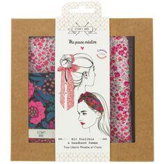 Kit Couture Headband et Foulchie - Tissu Liberty Phoebe et Ciara - 2 pcs