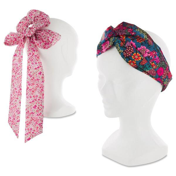 Kit Couture Headband et Foulchie - Tissu Liberty Phoebe et Ciara - 2 pcs - Photo n°2