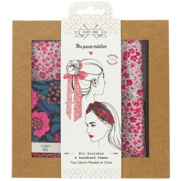 Kit Couture Headband et Foulchie - Tissu Liberty Phoebe et Ciara - 2 pcs - Photo n°1