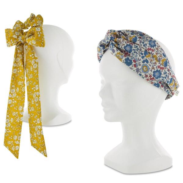 Kit Couture Headband et Foulchie - Tissu Liberty Capel et D'anjo - 2 pcs - Photo n°2