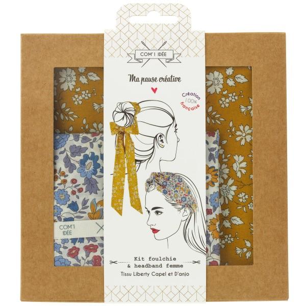 Kit Couture Headband et Foulchie - Tissu Liberty Capel et D'anjo - 2 pcs - Photo n°1