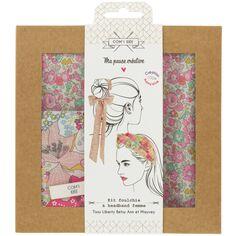 Kit Couture Headband et Foulchie - Tissu Liberty Betsy Ann et Mauvey - 2 pcs
