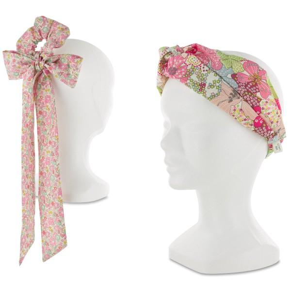 Kit Couture Headband et Foulchie - Tissu Liberty Betsy Ann et Mauvey - 2 pcs - Photo n°2