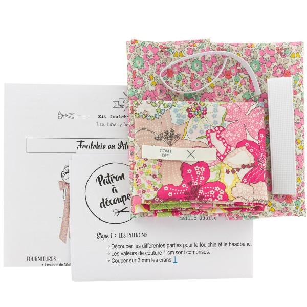 Kit Couture Headband et Foulchie - Tissu Liberty Betsy Ann et Mauvey - 2 pcs - Photo n°3