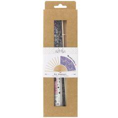 Kit couture éventail - Tissu Liberty June's Meadow - 23,5 cm