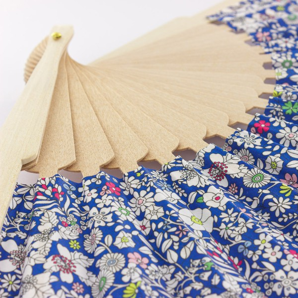 Kit couture éventail - Tissu Liberty June's Meadow - 23,5 cm - Photo n°5