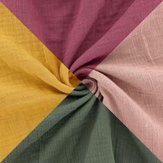Tissu double gaze de coton - Vendu par 10 cm