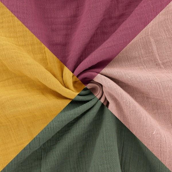 Tissu double gaze de coton - Vendu par 10 cm - Photo n°1