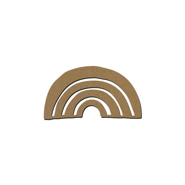 Forme en bois à décorer - Arc en ciel - 7 x 4 cm - Photo n°1