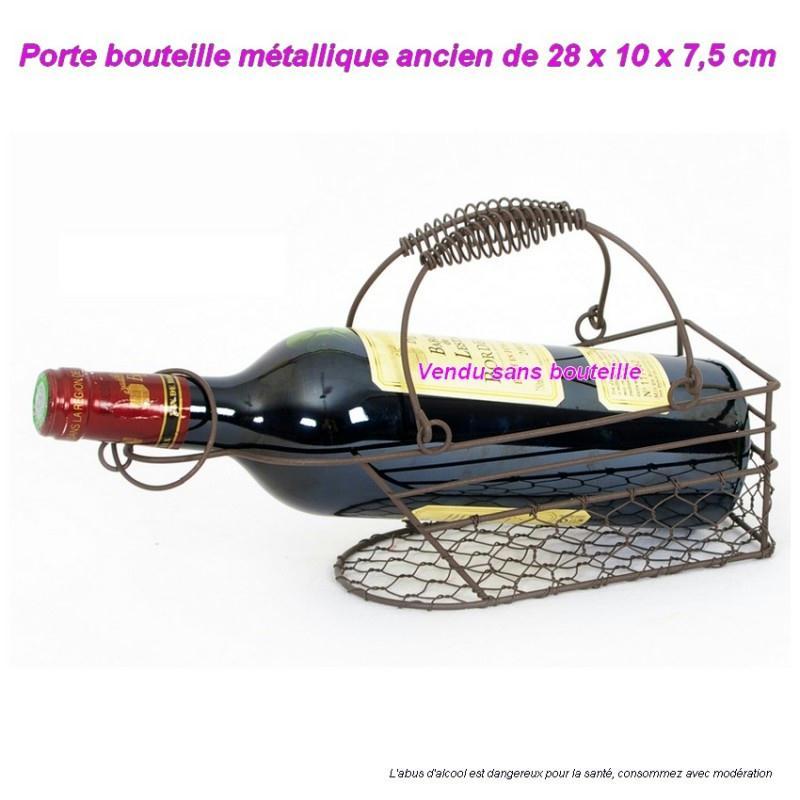 Porte bouteille en m tal ancien design authentique range for Acheter miroir ancien
