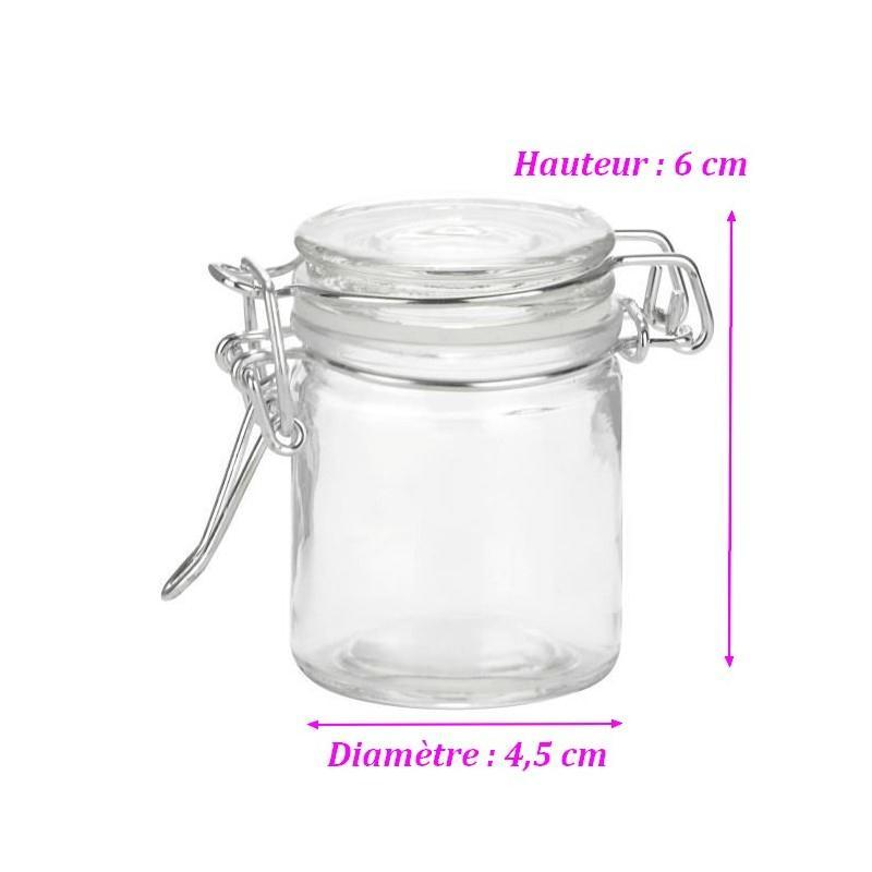 mini pot de confiture pour conserve en verre confiturier r tro de 6 cm pour boite d boite. Black Bedroom Furniture Sets. Home Design Ideas