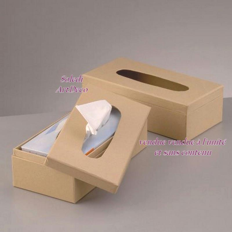 boite mouchoirs en carton brun 26x13x8 cm customiser boite en carton d corer creavea. Black Bedroom Furniture Sets. Home Design Ideas