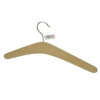 Cintre en bois de hêtre brut non traité, forme simple, Longueur 42 cm, à customi