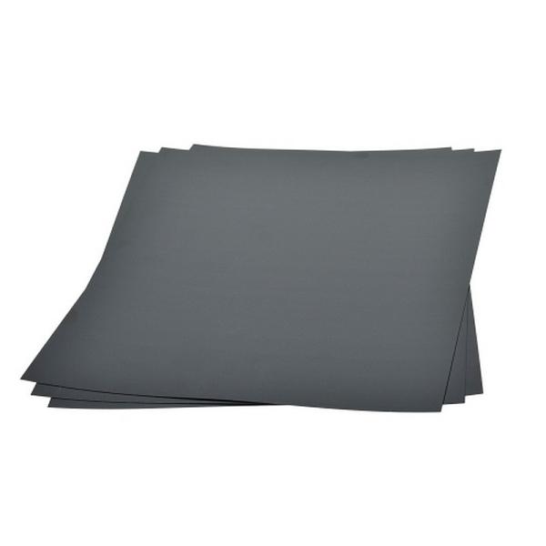 Lot de 3 feuilles Plastique dingue noir mat, plastique fou rétractable, 20 cm x 30 cm - Photo n°1