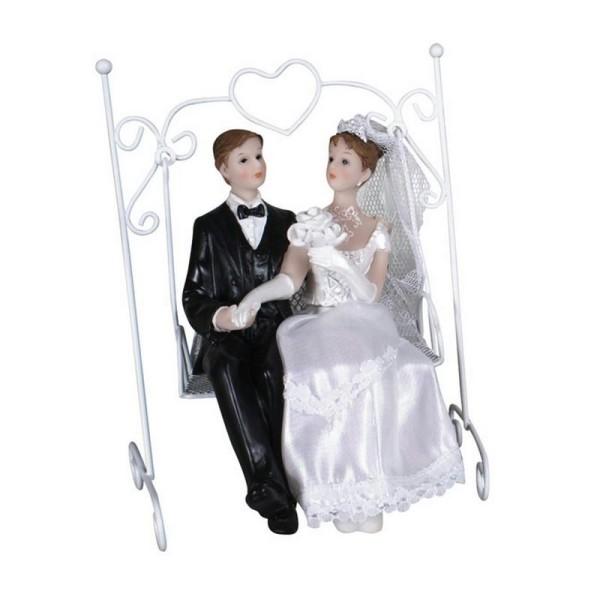 HOBI Couple de mari/és en Robe Blanche et Smoking Noir 11cm Figurines pi/èce mont/ée Mariage