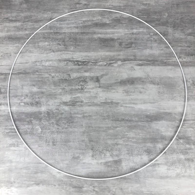 Grand Cercle XXL métallique blanc diam. 80 cm pour abat-jour, Anneau ...