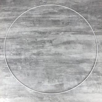 Grand Cercle XXL métallique blanc diam. 80 cm pour abat-jour, Anneau epoxy blanc Attrape r&ec