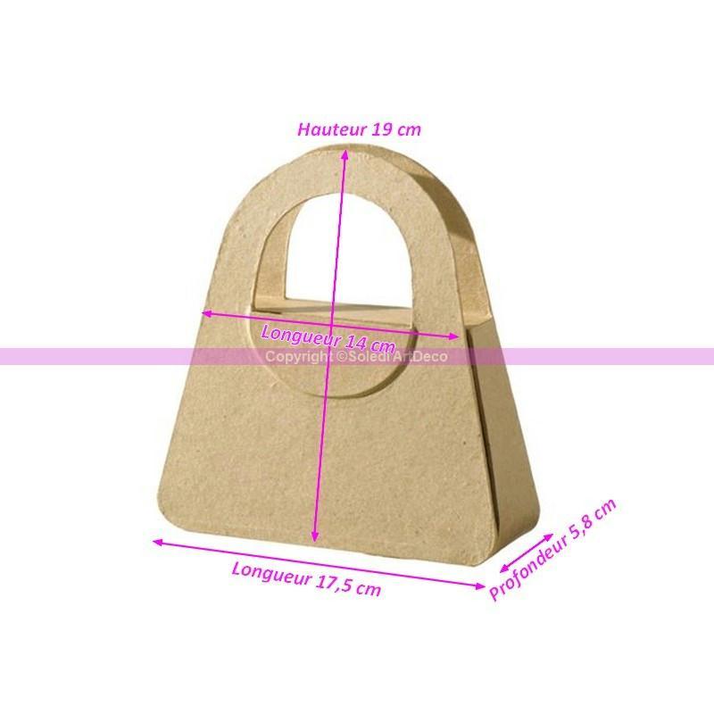 petit sac mains en papier m ch 19x17 5x5 8cm boite customiser en o boite en papier. Black Bedroom Furniture Sets. Home Design Ideas