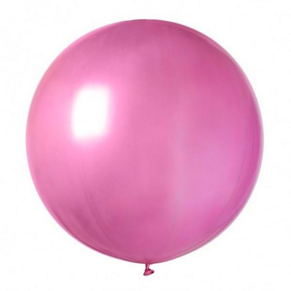 Ballon De Baudruche Geant Fuchsia Opaque Diam 75 Cm En Latex