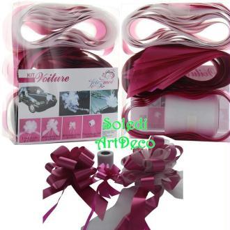 Kit de décoration Mariage festif Rose Fuchsia, 10 Pièces, pr Voiture de Mariés,