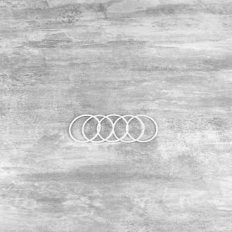 Lot de 5 Cercles métalliques blanc diam. 5 cm pour abat-jour, Anneau epoxy Attrape rêve