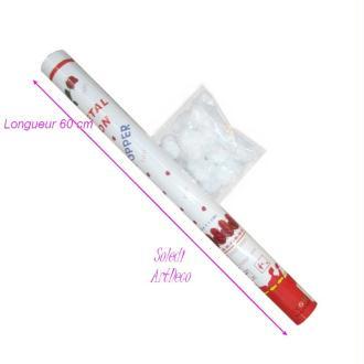 Canon explosif de 60 cm à Pétales de roses blanches en tissu, pour Cérém