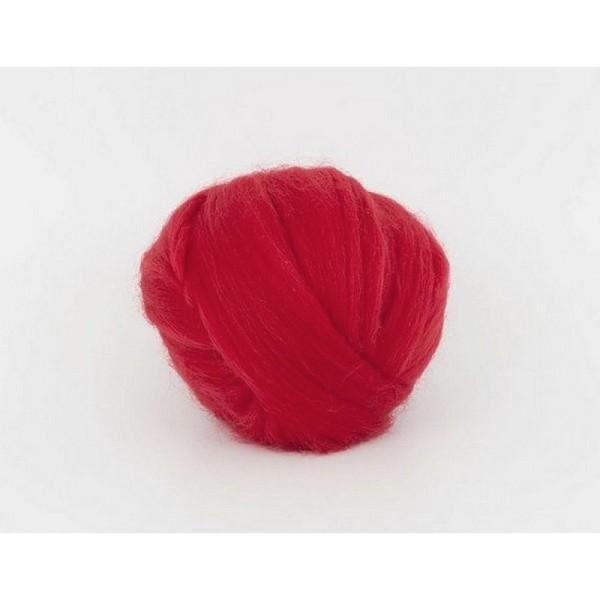 Laine rouge à feutrer Merino superfin 19,5 mic., 50 g - Photo n°1